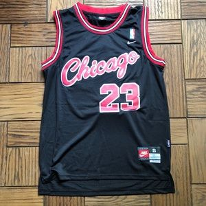 Michael Jordan Chicago Bulls Script Rookie Jersey
